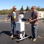 Aaron & Bob installing fan