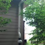 Outside exhaust pipe example - 4 pipe around soffit