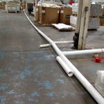 testing pipe system design with temporary floor built system